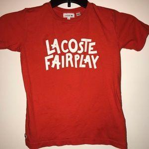 128cm LACOSTE Girls/' Kids Cotton Logo T-Shirt Pink size 8 years